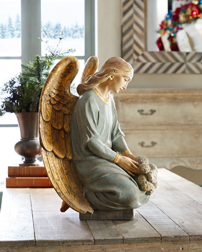 Kneeling Angel Holiday Decor