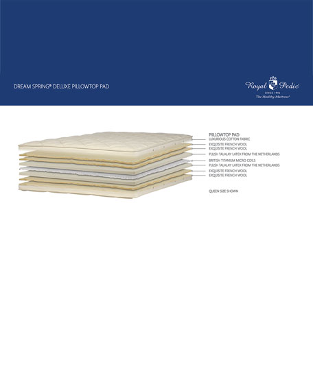 Dream Spring Deluxe Pillow Top Pad - King