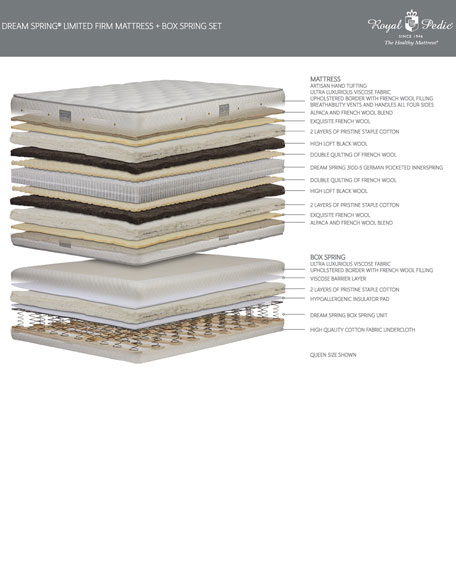 Dream Spring Limited Firm Full Mattress Set