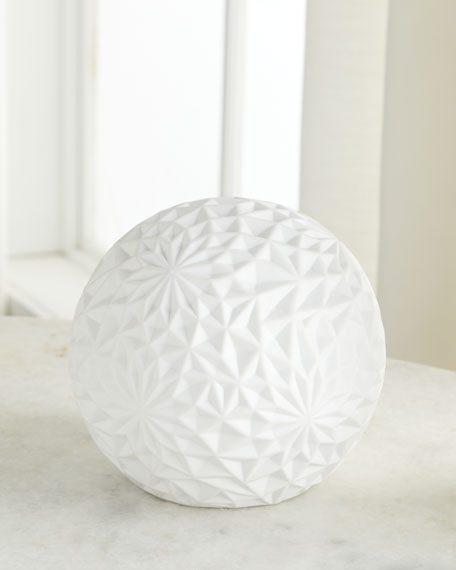 Ceramic Accent Globe Lamp