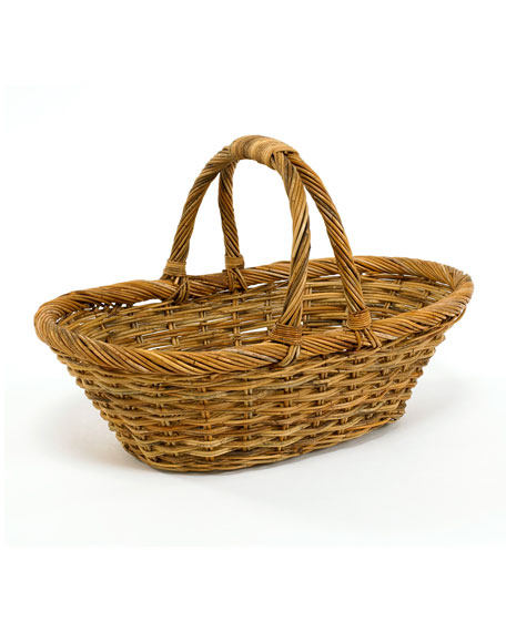 Mainly Baskets Cottage Daisy Rattan Basket