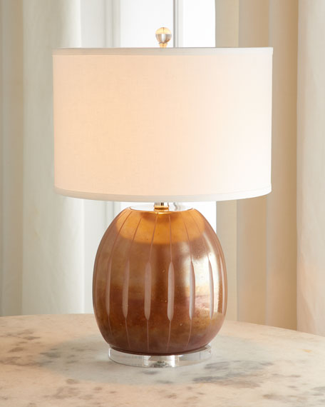 Rose Glass Table Lamp