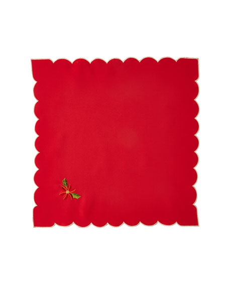 Poinsettia Napkins, Set of 4