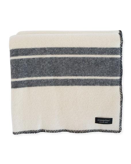 A Frame Merino Wool King Blanket, Midnight Blue