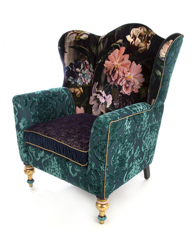 Moonlight Garden Off The Record Wing Chair