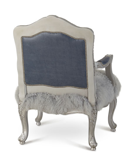 Emory Leather & Sheepskin Bergere Chair