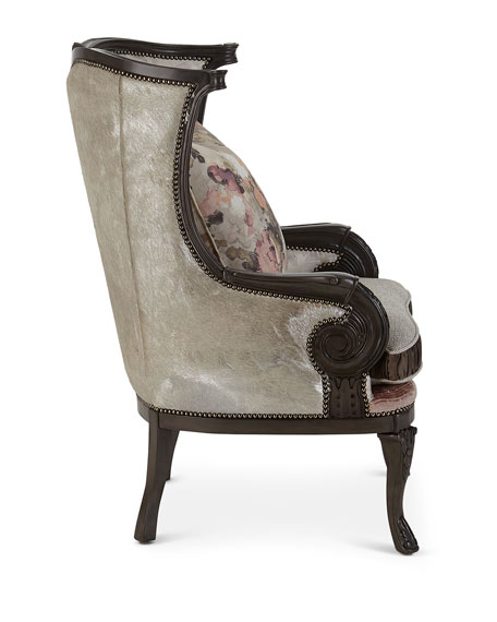 Jules Leather Wing Chair