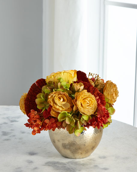 Gold Nugget Faux Floral Arrangement