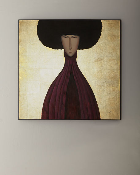 """Man in Plum"" Giclee Art by Teng Fei"