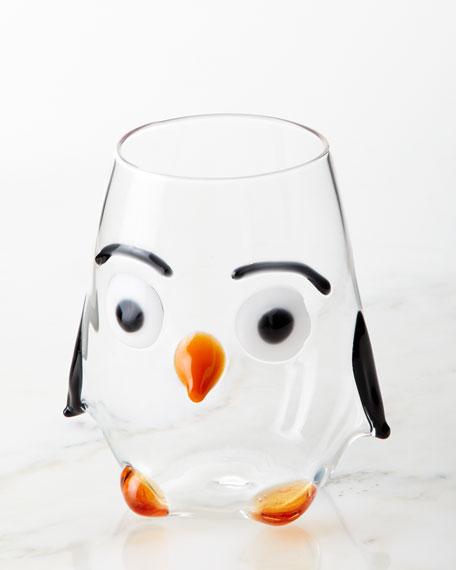 Penguin Stemless Wine Glass