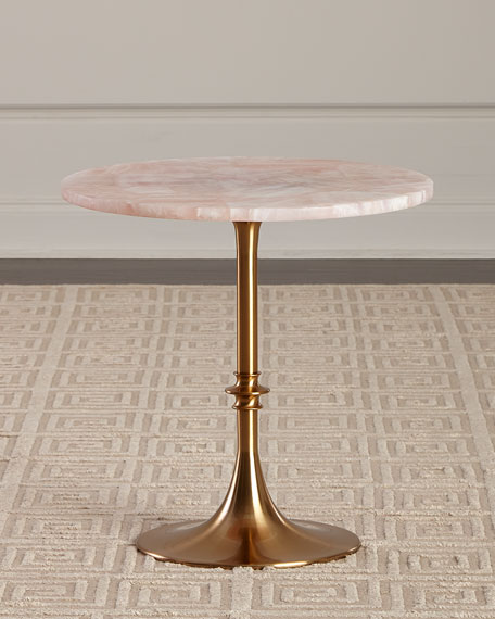Interlude Home Pippa Marble Top Side Table