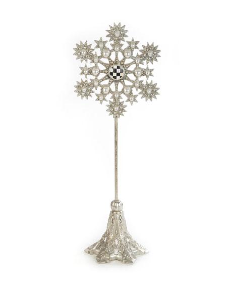 MacKenzie-Childs Snowflake Medium Pedestal