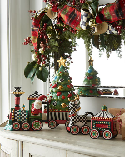 NM Christmas Train Tea Set