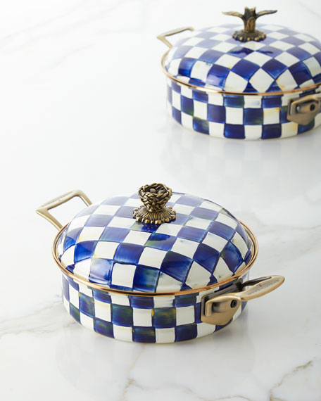 MacKenzie-Childs Royal Check 3-Qt. Casserole