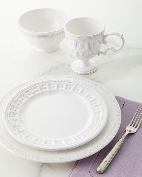 Neiman Marcus White Tile 16-Piece Dinnerware Set