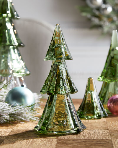 Berry & Thread Small Evergreen Tree Tower  Set of 3