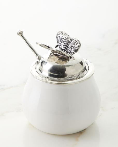Ceramic Pewter Sugar Holder