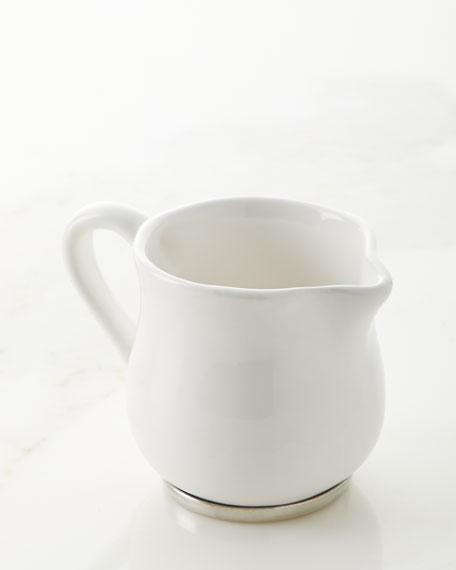 Neiman Marcus Ceramic Pewter Creamer