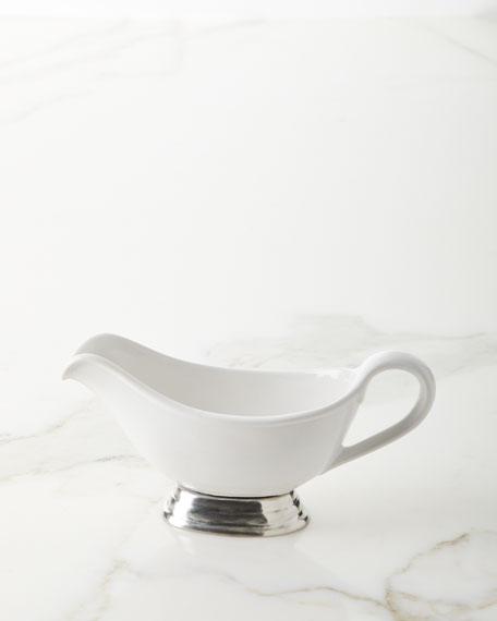 Ceramic Pewter Gravy Boat