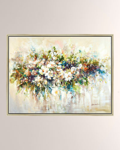 Blooms A Bursting Giclee Canvas Art