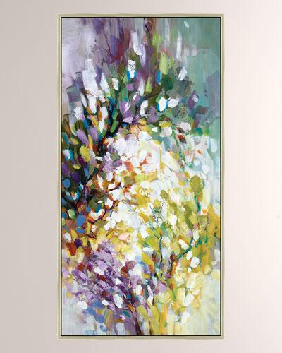 Bursting Blooms I Giclee Canvas Art