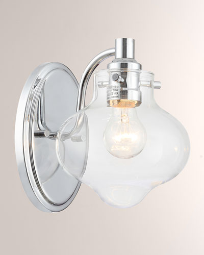 Industrial 6.5 Chrome Wall Mount