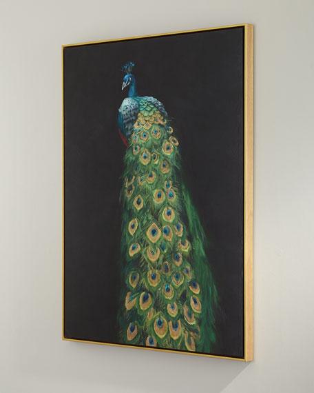 """Peacock"" Giclee Canvas Art"
