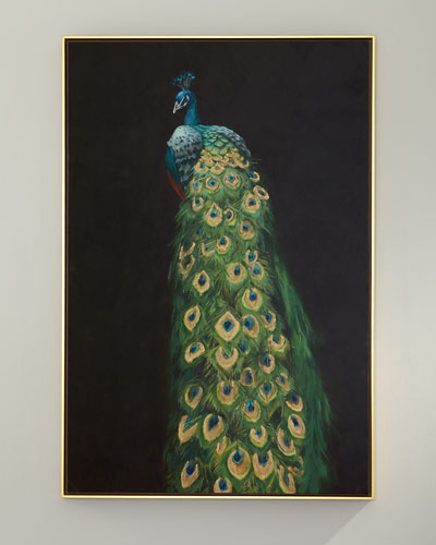 Peacock Giclee Canvas Art