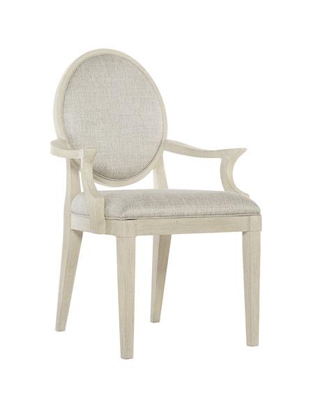 East Hampton Oval Back Arm Chairs, Set of 2