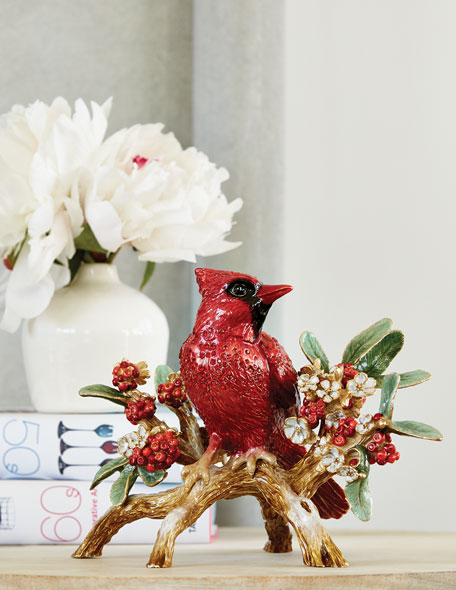 Cardinal on Branch Figurine
