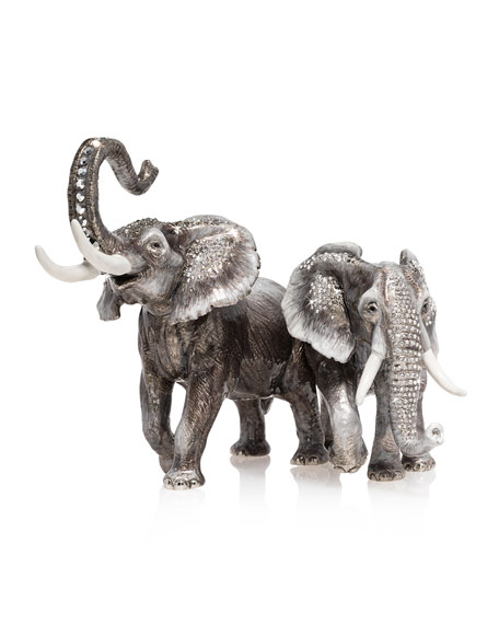 Jay Strongwater Elephant Pair Figurine