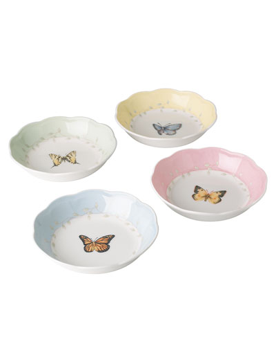 Butterfly Meadow Dessert Fruit Dishes  Set of 4