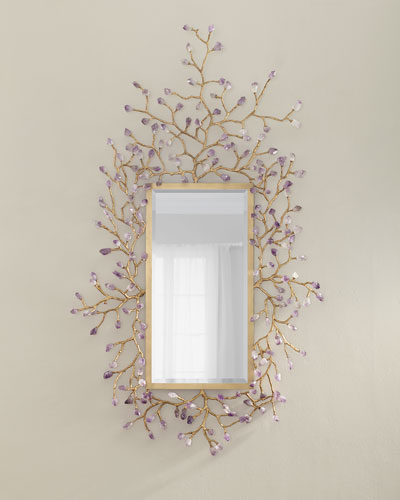 Budding Amethyst Mirror