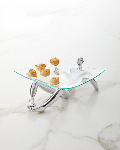 Glass Platter and Stand