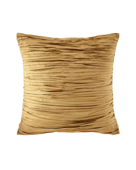 Valour Pleated Faux Silk European Sham