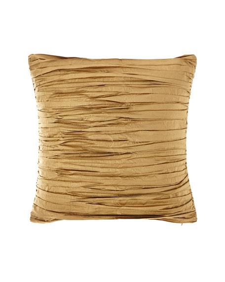 Valour Pleated Silk Faux Silk Pillow