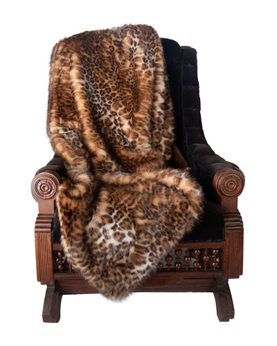 Wild Jungle Cat Throw  58 x 70