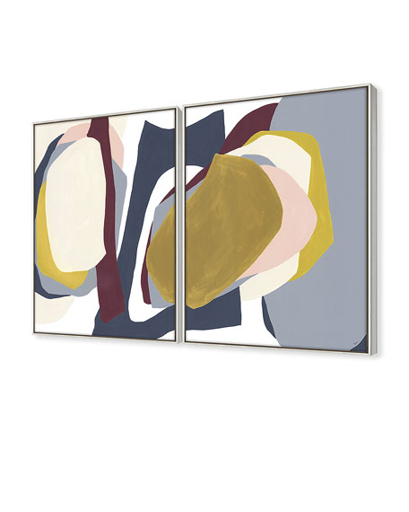 Trace In Shapes Giclee On Canvas Wall Art With Frame