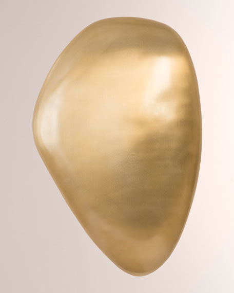 River Stone Large Brass Finish Wall Art