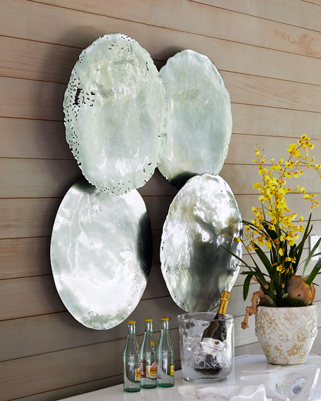 Galvanized Wall Discs, Set of 4