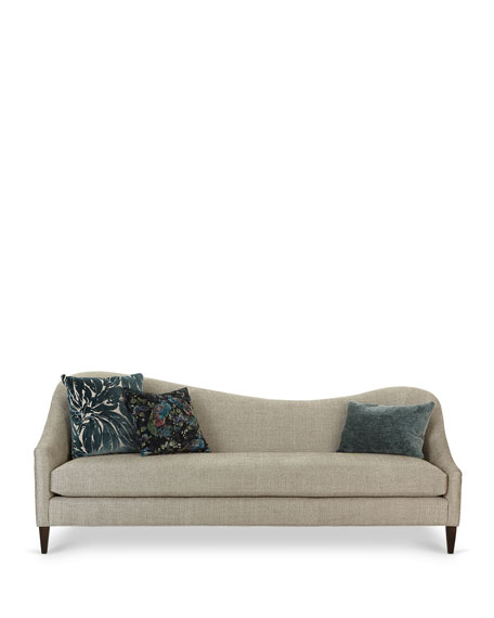 Raquel Left Facing Curved Sofa, 92""