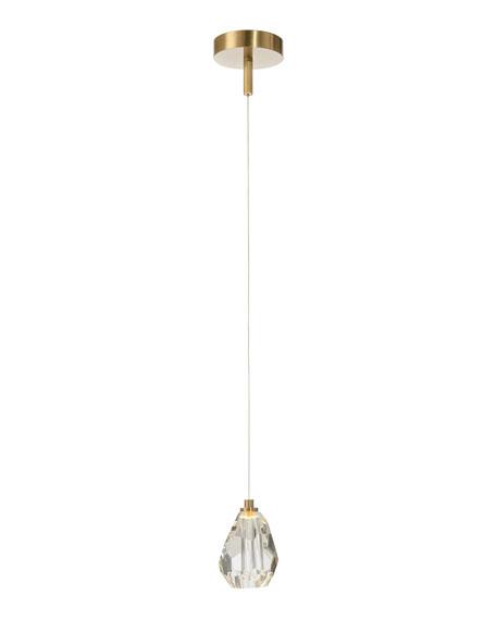 John-Richard Collection Faceted Chunk Crystal Single-Light Pendant