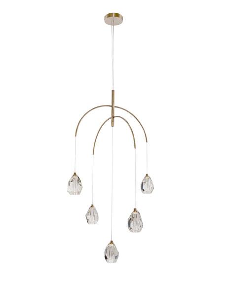 Faceted Crystal 5-Light Chandelier