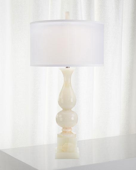 Classic White Jade Table Lamp