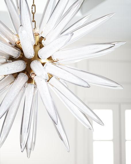 Hand-Blown 16-Light Glass Pendant