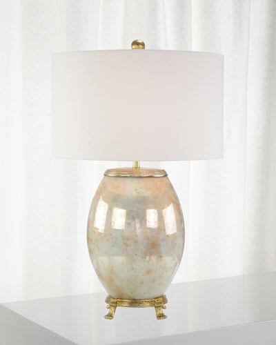 Melded White & Brass Lamp