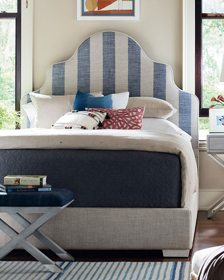 Summer Striped King Bed