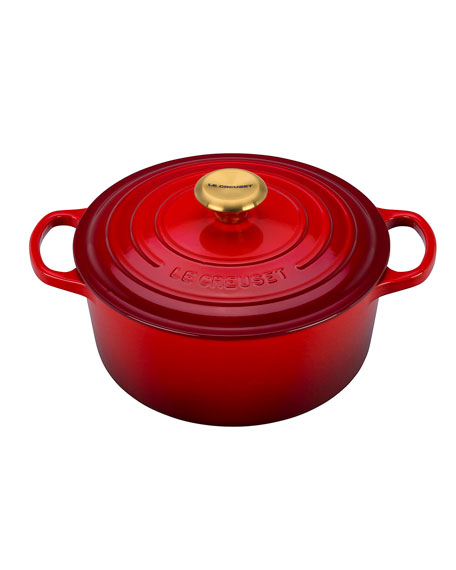 4.5-Qt. Round Dutch Oven with Gold Knob