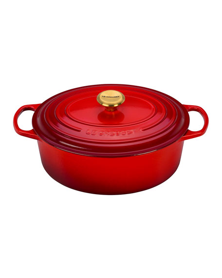 6.75-Qt. Oval Dutch Oven with Gold Knob