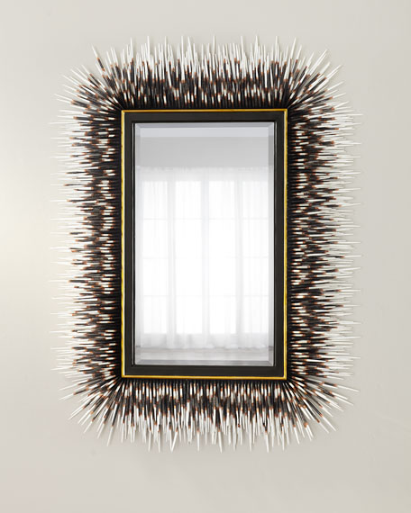 Porcupine Quill Rectangle Mirror